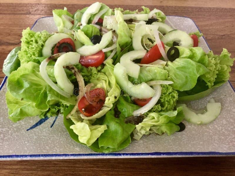 Insalata fresca della verdura della miscela fotografia stock