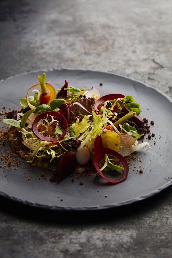Insalata gastronomica con i vegetabels colurful fotografia stock libera da diritti