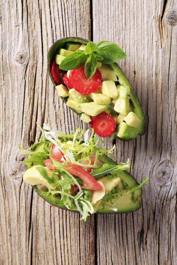 Insalate dell'avocado fotografia stock