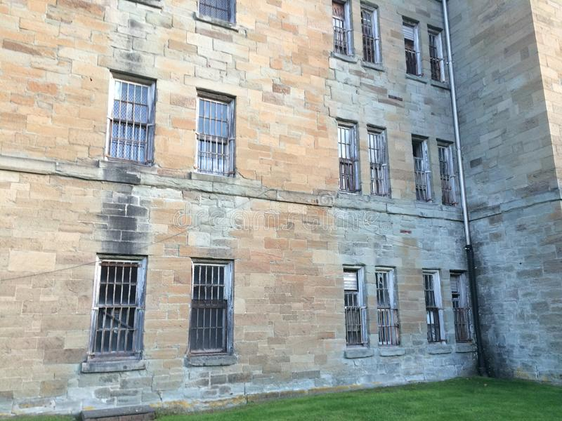 Insane Asylum Weston West Virginia. A peek at the insane asylum mental hospital in Weston West Virginia royalty free stock images
