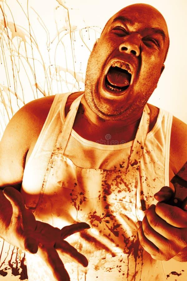 Download Insane butcher stock photo. Image of violence, murder - 25679204