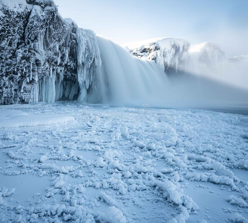 Free Insane Frozen Waterfall In Iceland Stock Images - 191697034