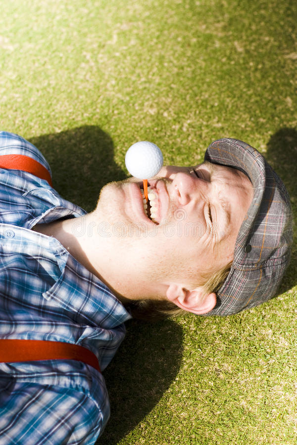 Download Insane Sport Nut Crazy About Golf Stock Photo - Image: 18513656
