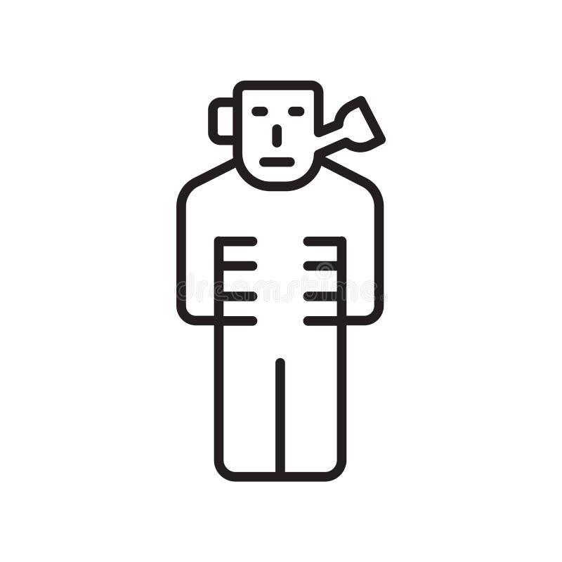 Inscatoli il segno ed il simbolo di vettore dell'icona dell'uomo isolati su fondo bianco illustrazione vettoriale