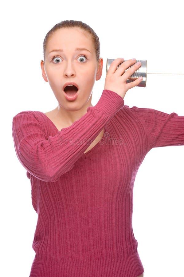 Inscatoli il telefono fotografie stock libere da diritti