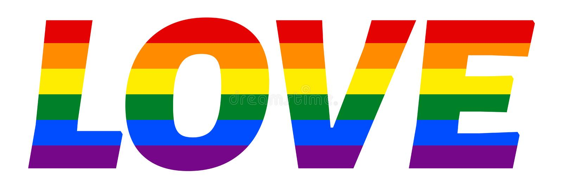 Inschrijving in kleuren van Pride Flag wordt geschilderd dat Symbool van tolerantie vector illustratie