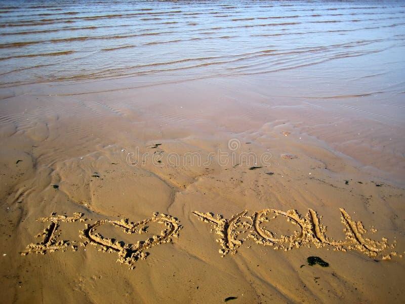 Download Inschrijving op zand stock afbeelding. Afbeelding bestaande uit zand - 285169