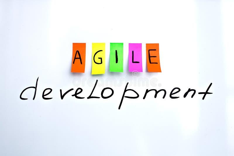 Inscrição da imagem do desenvolvimento ágil imagem de stock