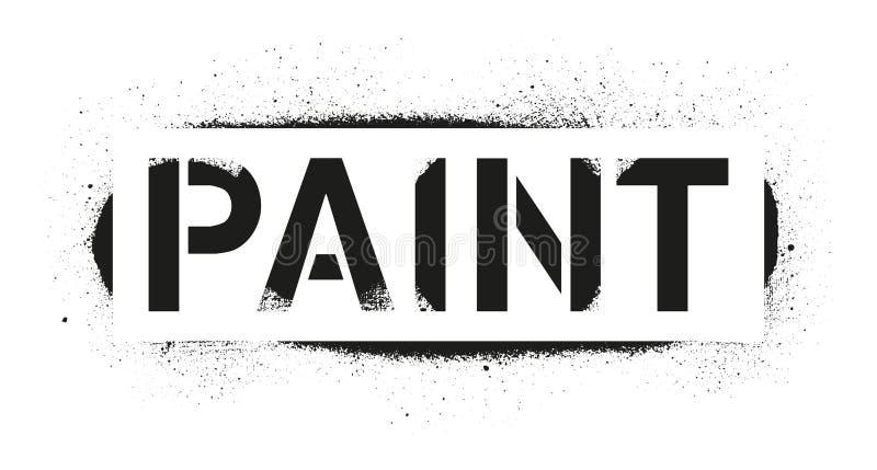 Inscrição da pintura do estêncil Cópia preta dos grafittis no fundo branco Arte da rua do projeto do vetor ilustração do vetor