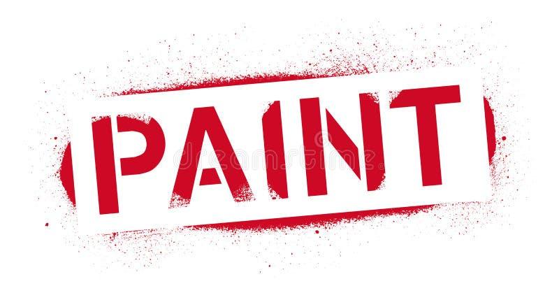 Inscrição da pintura do estêncil Cópia vermelha dos grafittis no fundo branco Arte da rua do projeto do vetor ilustração royalty free