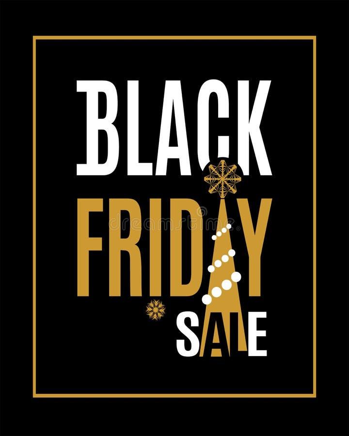 Inscrição da venda de Black Friday do vetor ilustração stock