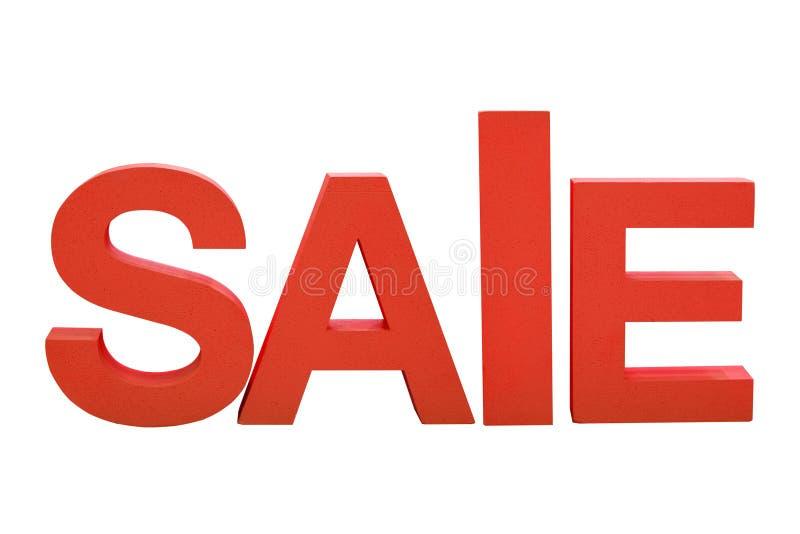 Inscrição da venda em letras da espuma no fundo isolado branco foto de stock