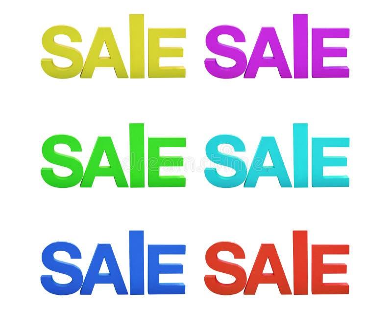 Inscrição da venda em letras da espuma no fundo isolado branco imagens de stock