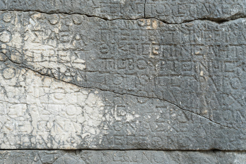 Inscrição de pedra antiga em Turquia fotografia de stock royalty free