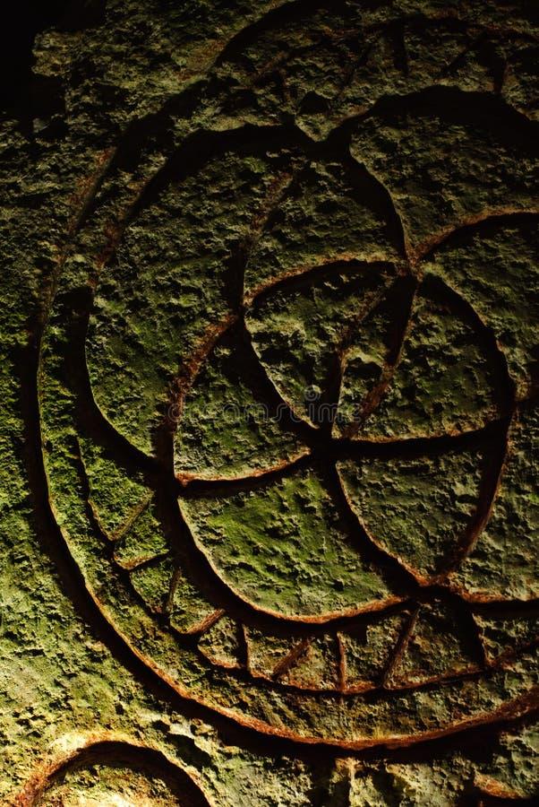 Inscrição de pedra Mystical fotos de stock royalty free