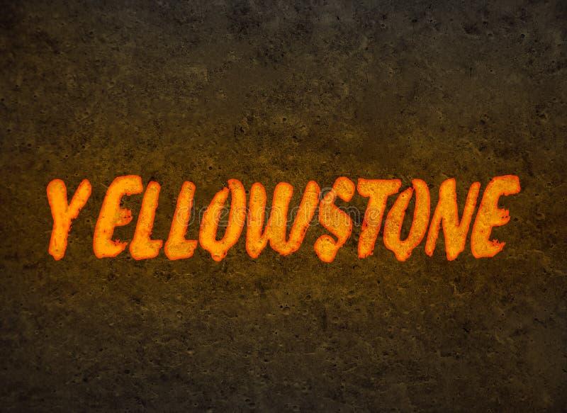 Inscrição de Yellowstone do magma fotografia de stock