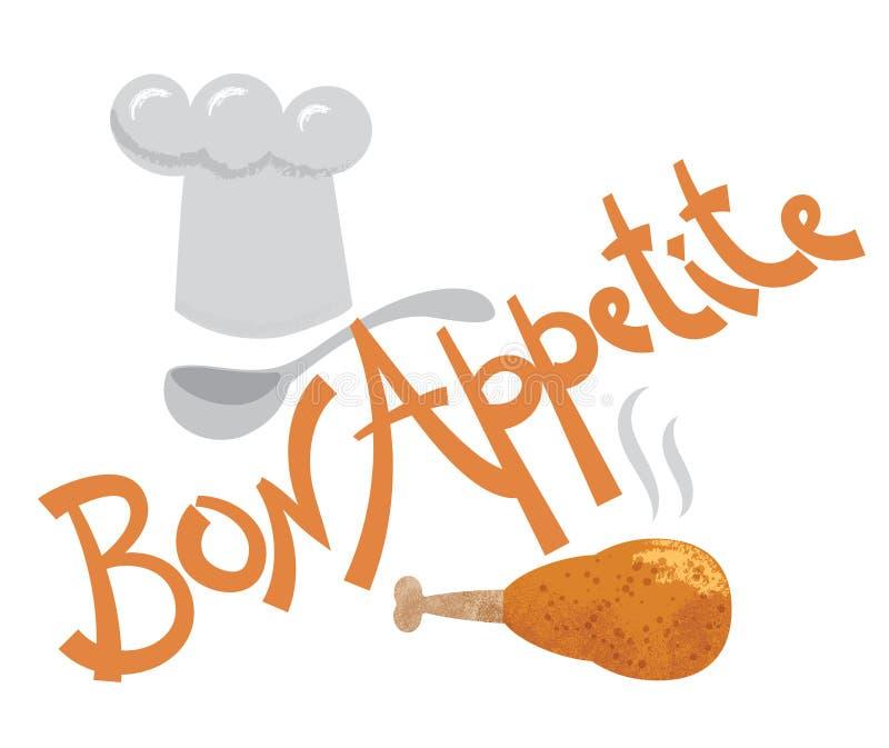 Inscrição do apetite do Bon ilustração royalty free