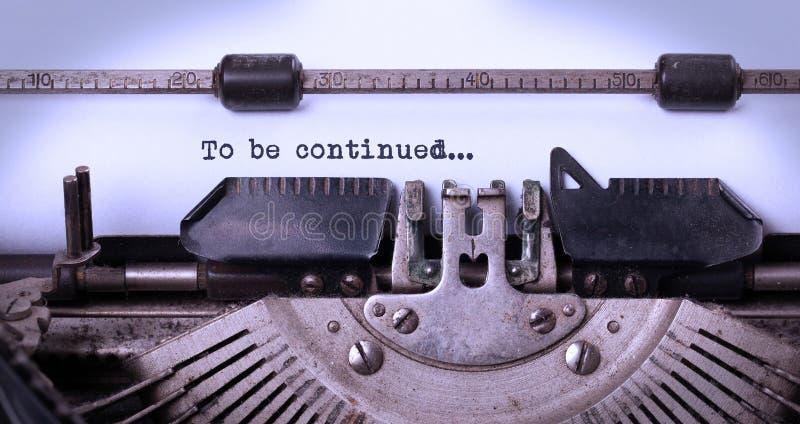 Inscrição do vintage feita pela máquina de escrever velha imagem de stock royalty free