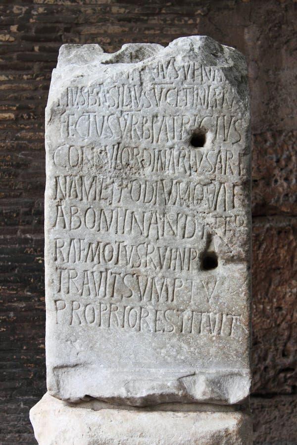 Inscrição latin antiga imagens de stock