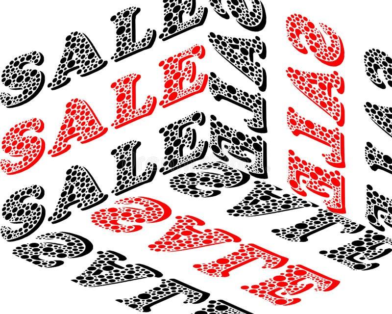 Inscrição tridimensional do contorno - venda ilustração stock