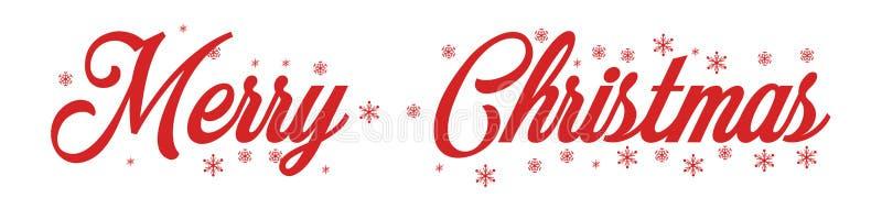 Inscrição vermelha da rotulação da mão do Feliz Natal ao feriado de inverno fotos de stock