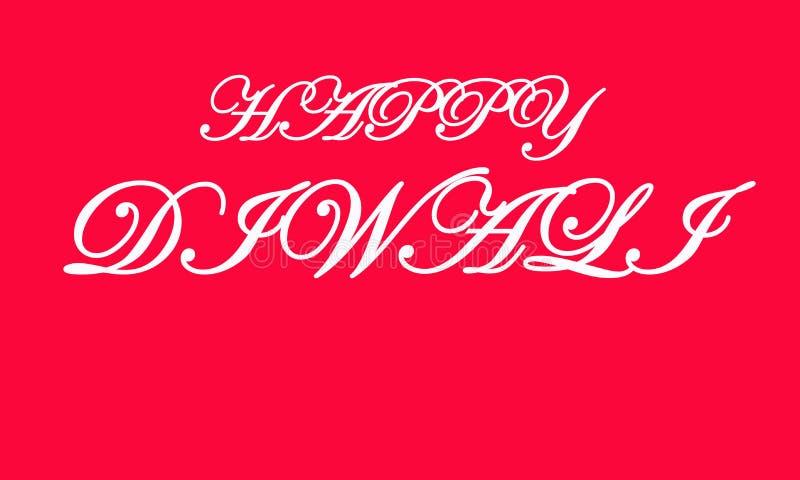 Inscri??o escrita ? m?o feliz de Diwali O festival da ?ndia de luzes comemora o molde do cart?o Tipografia criativa para cumprime ilustração stock