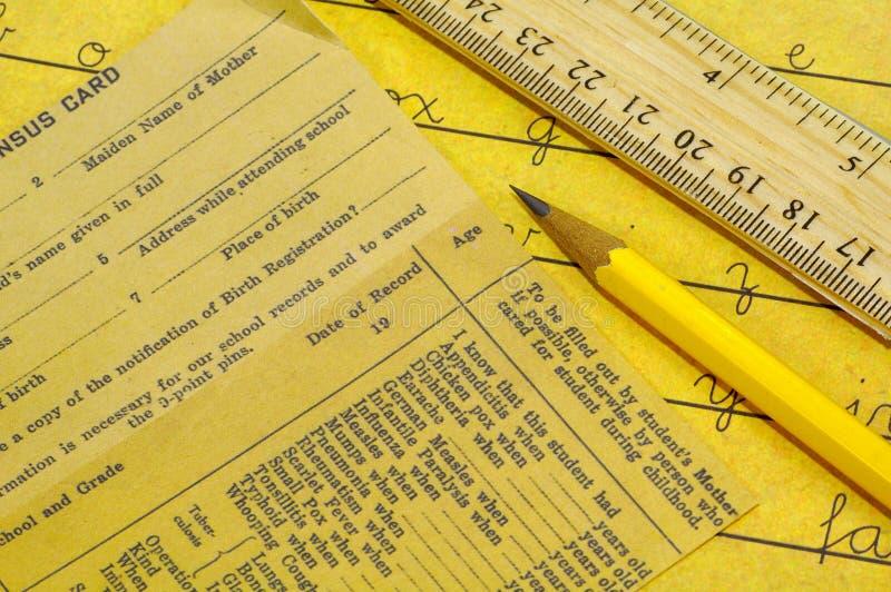 Inscripción De La Escuela Imágenes de archivo libres de regalías
