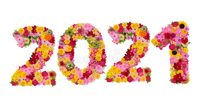 Inscripci?n 2021 De Las Flores Frescas Imagen de archivo - Imagen de 2021, flores: 143819065