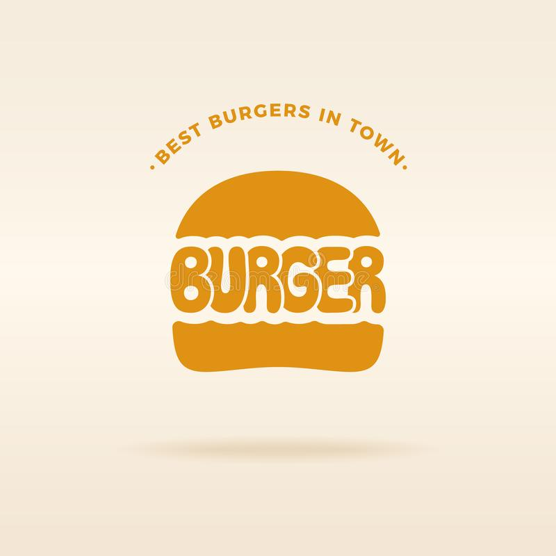 Inscripción del vector del emblema del logotipo de la hamburguesa libre illustration