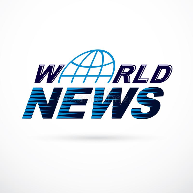 Inscripci?n de las noticias de mundo, ejemplo del vector stock de ilustración