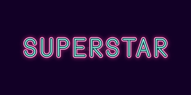Inscription au néon de superstar Vecteur illustration libre de droits