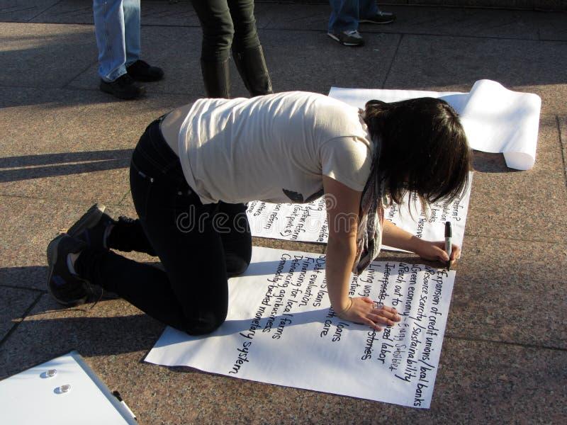 Inscription d'une pétition photos libres de droits