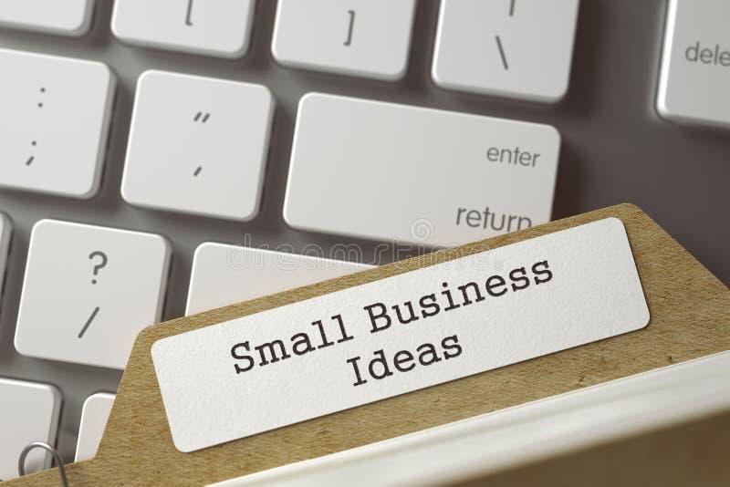 Inscription de dossier aux idées de petite entreprise d'inscription 3d illustration stock