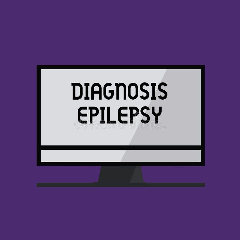 Inscription de l'épilepsie de diagnostic d'apparence de note Désordre de présentation de photo d'affaires dans lequel l'activité  illustration de vecteur
