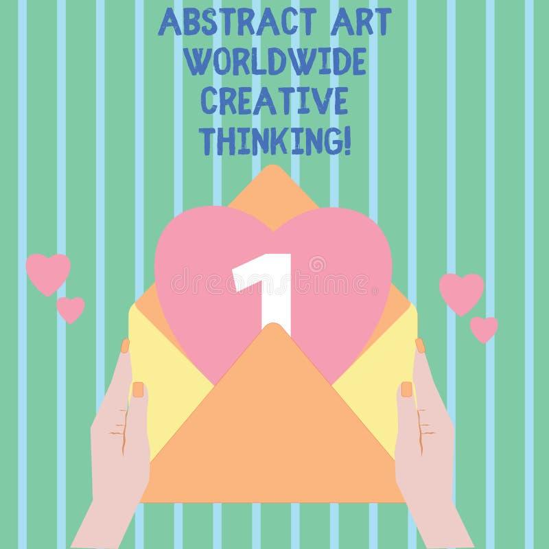 Inscription de l'abrégé sur Art Worldwide Creative Thinking apparence de note Photo d'affaires présentant l'inspiration moderne a illustration de vecteur