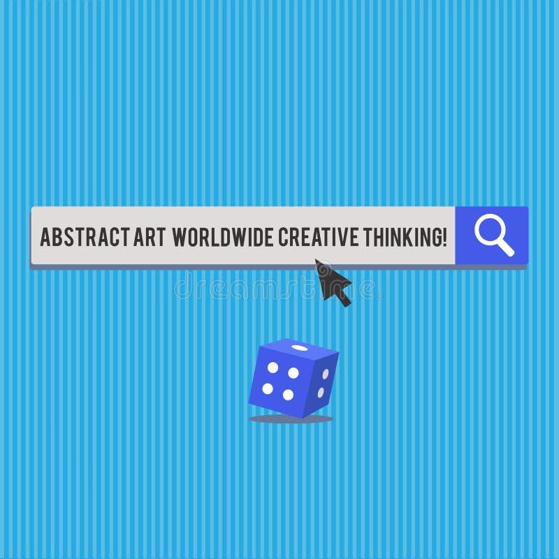 Inscription de l'abrégé sur Art Worldwide Creative Thinking apparence de note Photo d'affaires présentant les matrices 3D moderne illustration stock