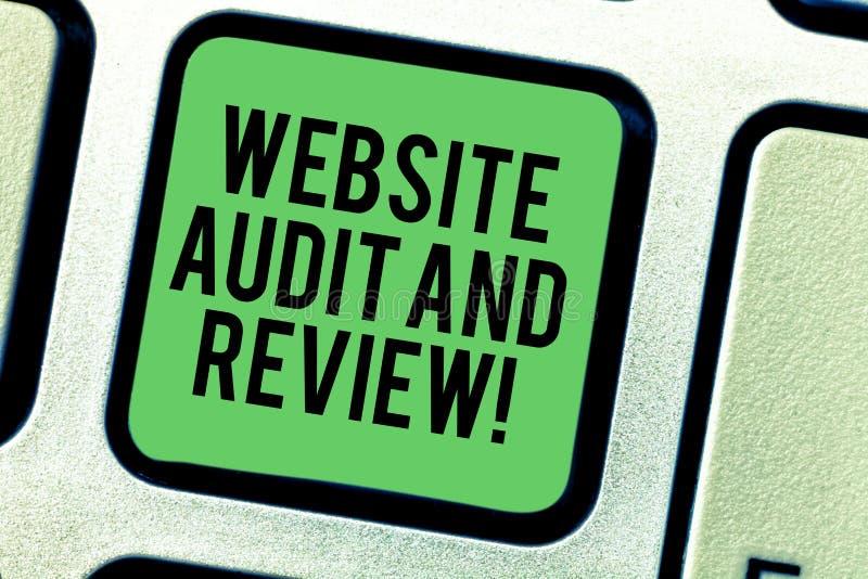Inscription de l'audit et de l'examen de site Web d'apparence de note Évaluation de présentation de photo d'affaires de révision  photos libres de droits