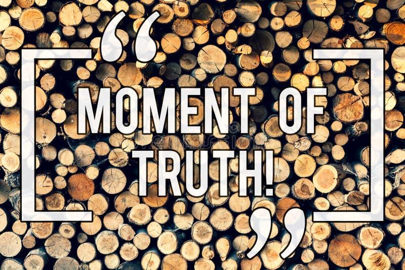 Inscription de l'heure de vérité d'apparence de note Temps de présentation de photo d'affaires de faire une apogée de décision d' illustration libre de droits