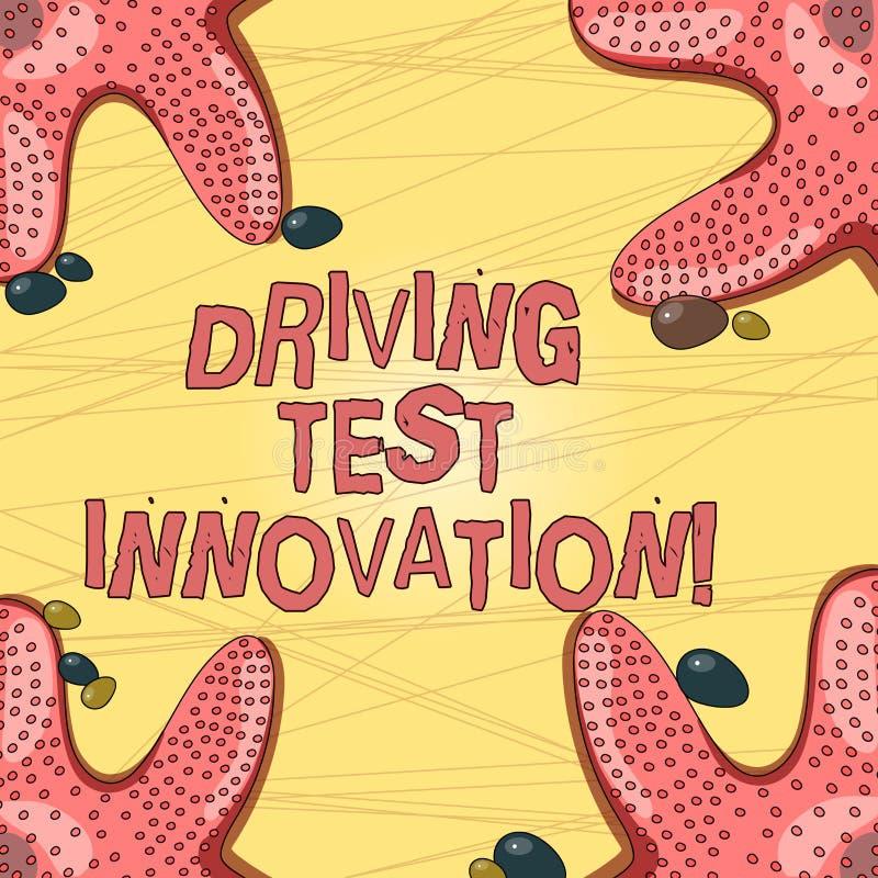 Inscription de l'innovation d'examen de conduite d'apparence de note Évaluation de présentation de voiture à l'avance de photo d' illustration de vecteur