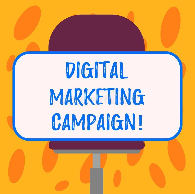 Inscription de la campagne de marketing de Digital d'apparence de note Photo d'affaires présentant l'effort marketing en ligne po illustration libre de droits