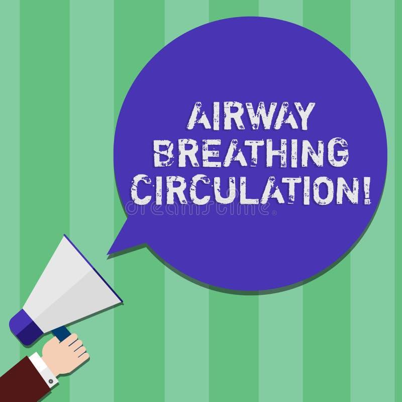 Inscription de la circulation de respiration de voie aérienne d'apparence de note Aide de présentation de mémoire de photo d'affa illustration de vecteur