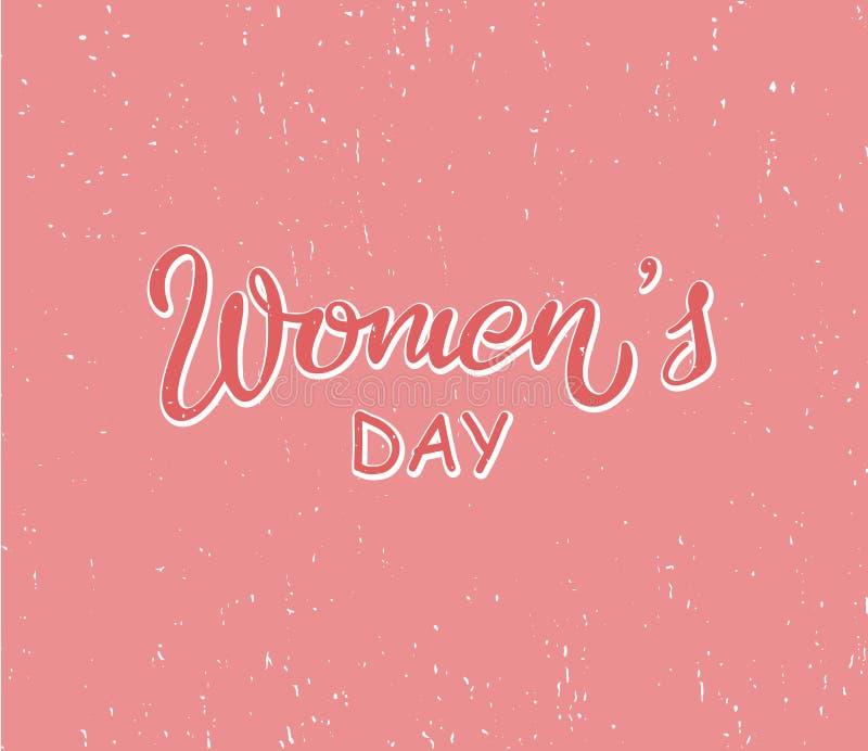 Inscription de la composition pour les cartes ou les invitations du jour des femmes illustration libre de droits