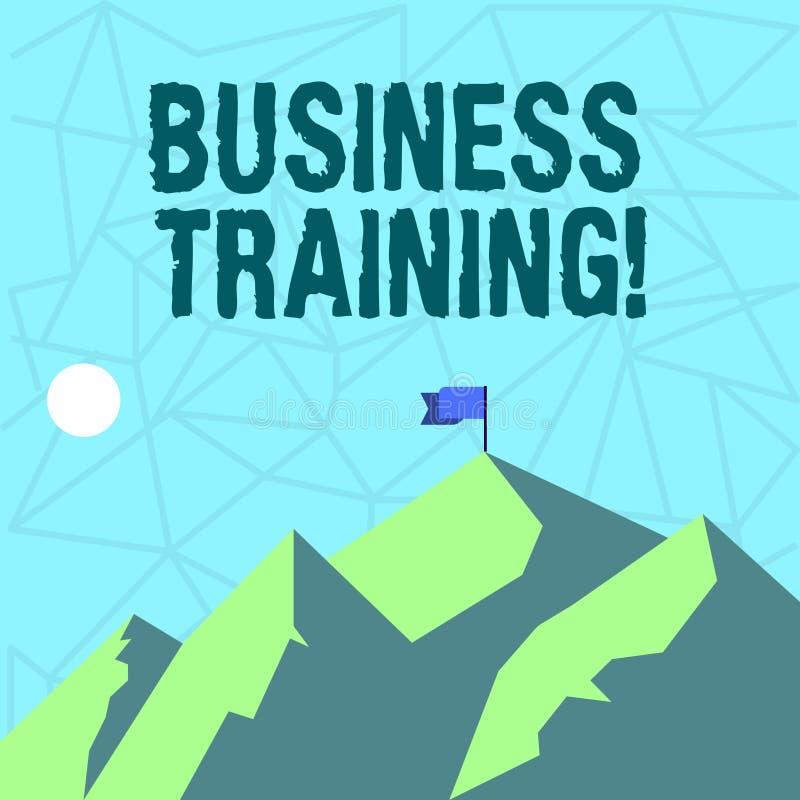Inscription de la formation d'affaires d'apparence de note Photo d'affaires présentant augmentant la connaissance et les qualific illustration stock