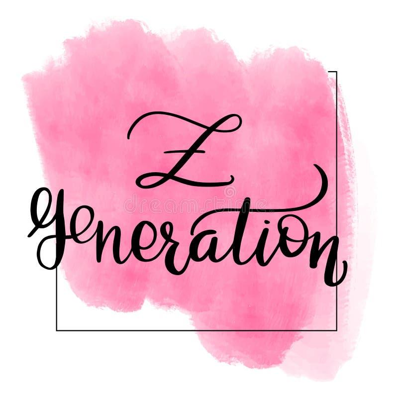 Inscription de la génération de z illustration de vecteur