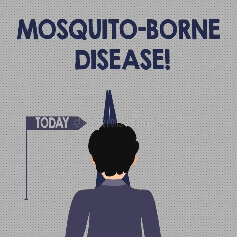 Inscription de la maladie soutenue par moustique d'apparence de note Les maladies de présentation de photo d'affaires ont causé illustration libre de droits