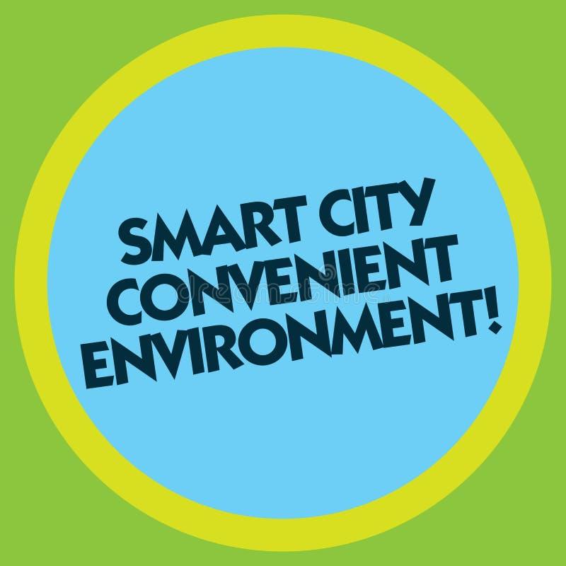 Inscription de la note montrant à Smart City l'environnement commode Photo d'affaires présentant les villes modernes technologiqu illustration de vecteur