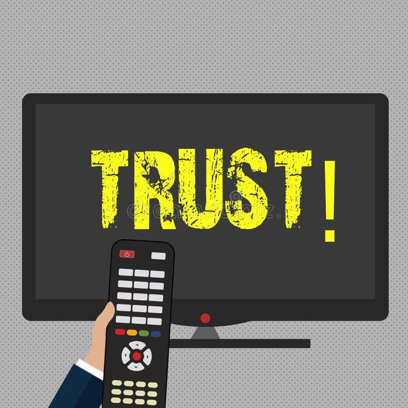 Inscription de la note montrant la croyance de présentation de photo d'affaires de confiance dans la confiance de capacité de vér illustration de vecteur