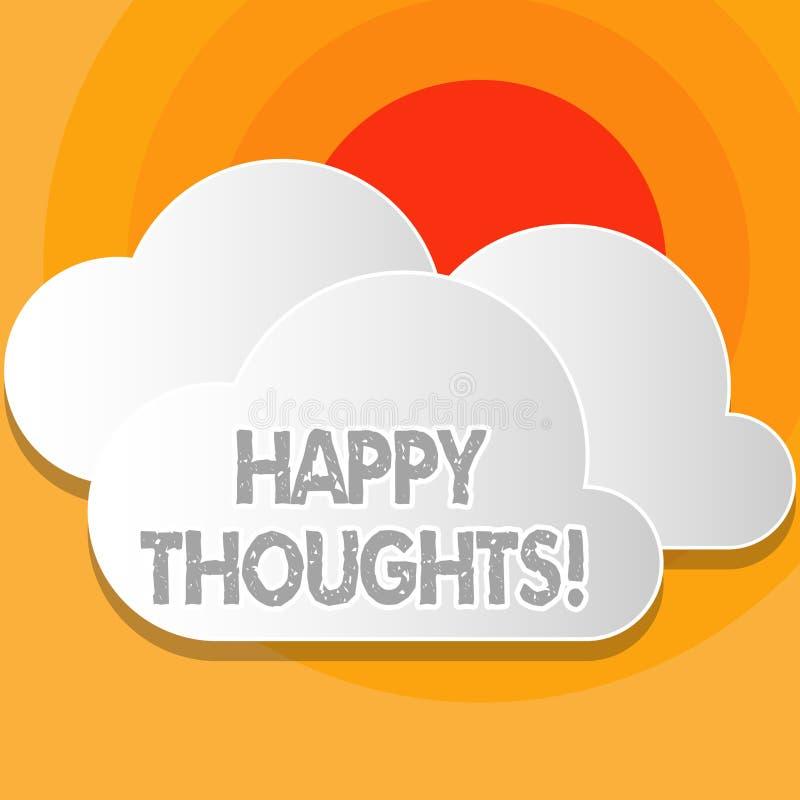 Inscription de la note montrant des pensées heureuses Photo d'affaires présentant la bonne opinion d'idée produite par esprit  illustration libre de droits
