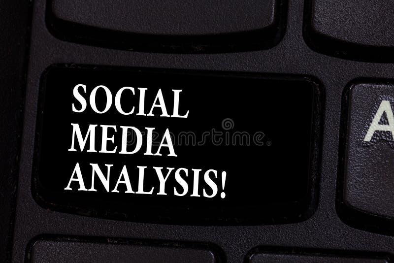 Inscription de la note montrant l'analyse sociale de médias Rassemblement de présentation de photo d'affaires et évaluation des d photos libres de droits