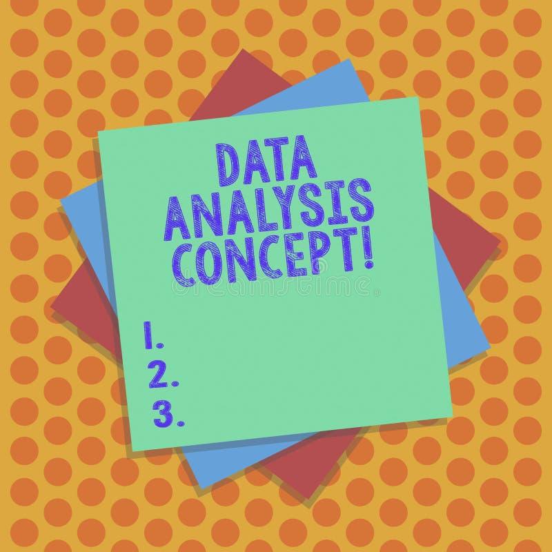 Inscription de la note montrant le concept d'analyse de données Données de évaluation de présentation de photo d'affaires utilisa illustration stock